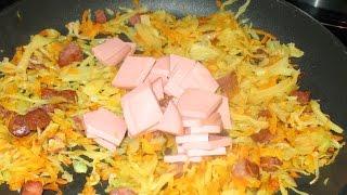 Солянка мясная с квашеной капустой из «колбасных обрезков»