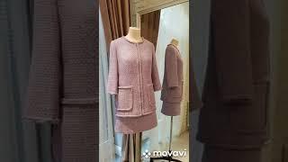 Женский костюм из ткани Chanel Жакет и юбка своими руками Индивидуальный пошив Ателье Москва