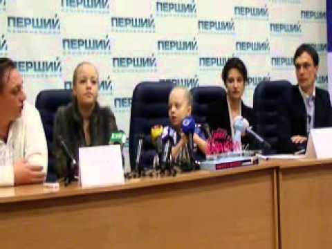 Press-conference of Anastasiya Petryk in Ukraine