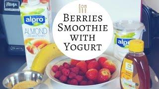 HEALTHY Berries Smoothie with Yogurt 🍓