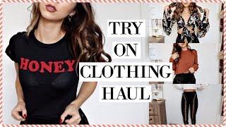 TRY ON CLOTHING HAUL   Chelsea Trevor