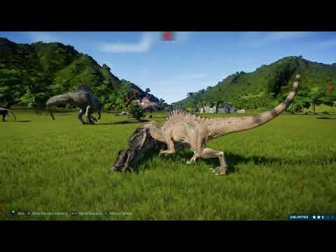 Jurassic World Evolution Spinosaurid battle royale |