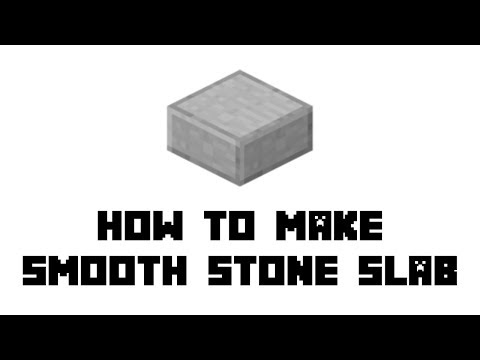 Minecraft Survival: How To Make Smooth Stone Slab