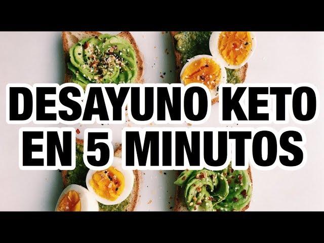 Desayuno keto menu
