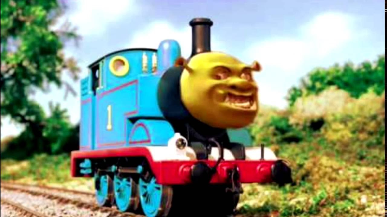 SHREK THE TANK ENGINE (Thomas gon' give it to ya + Smash Mouth) - YouTube