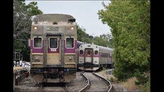 MBTA Trains All Over Southern Mass!!  6.30.17