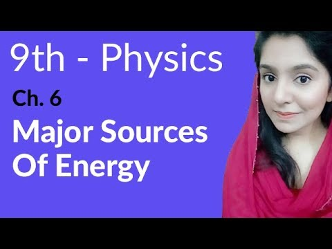 Matric part 1 Physics, ch 6, Major Sources of Energy - ch 6 Work and Energy - 9th Class Physics