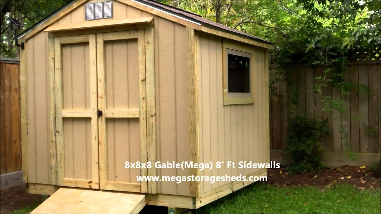 Storage Sheds Dallas Tx 8x8x8 Youtube