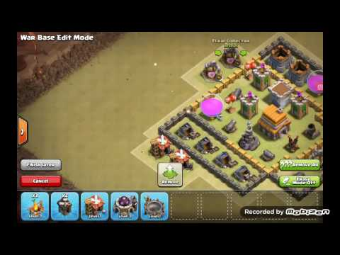 Clash of clans changing my active war base