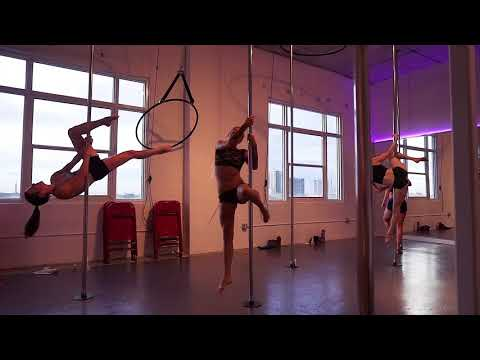 Pole Fitness class at Milan Pole Dance Studio - Miami