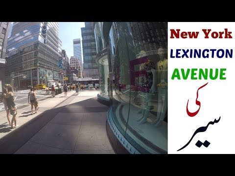 Watch and Walk in New York's Most Expensive Lexington Avenue Urdu/Hindi