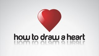 Corel Draw X6 tutorial - How to draw shiny heart in two minutes