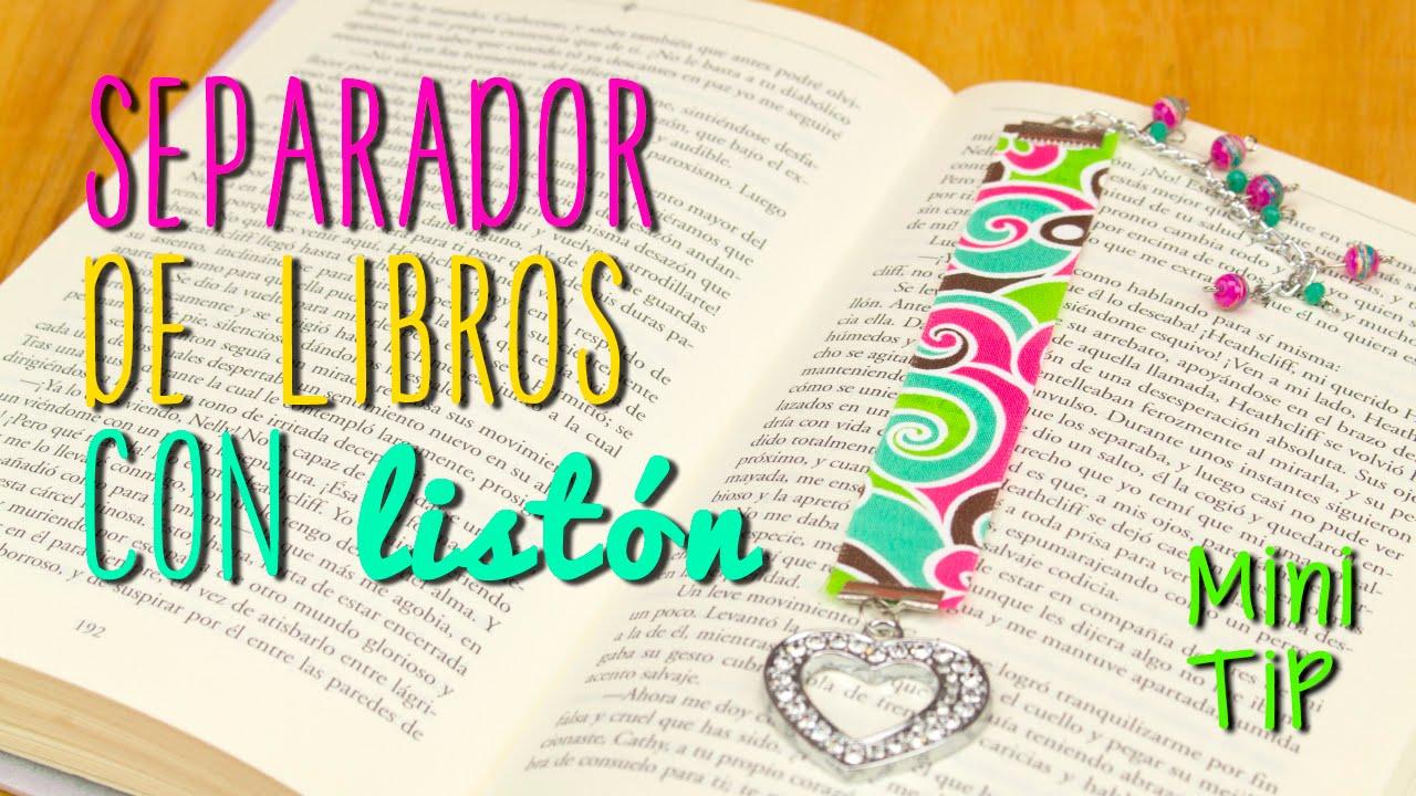 Cómo hacer separador de libros con listón, ¡originales! | Manualidades