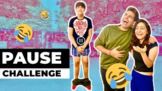 PAUSE CHALLENGE (Brother VS Sister) | Rimorav Vlogs