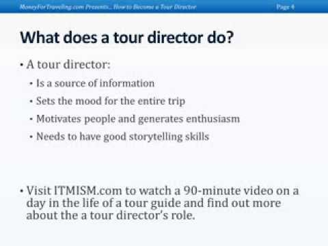 How to be a Tour Director by Ted Bravos
