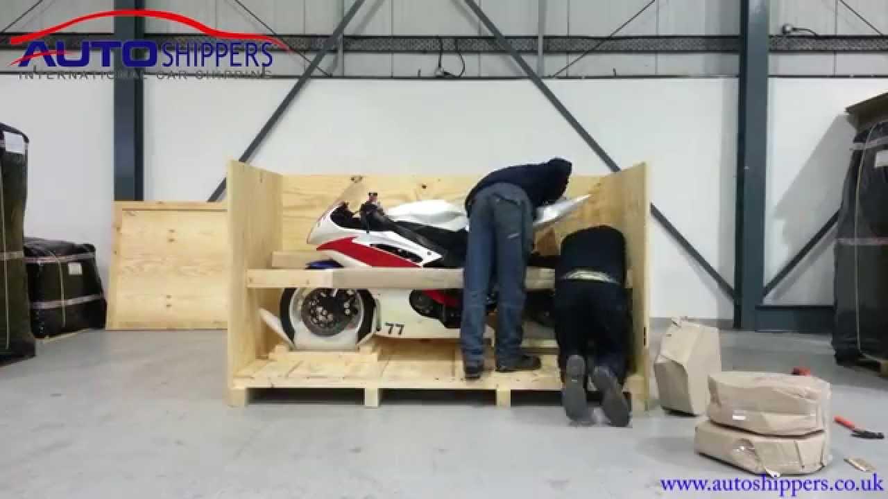 Packing a Yamaha YZF Motorcycle