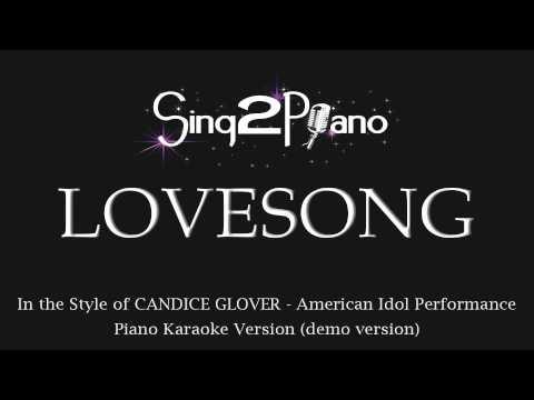 Lovesong (Piano Karaoke) Candice Glover - American Idol Performance