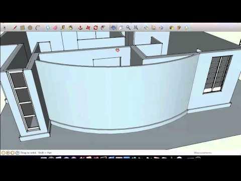 การออกแบบบ้านโมเดิร์นด้วย Google Sketch Up