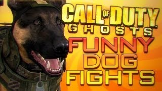 Call of Duty Ghosts - Funny COD DOG momnets - Retarded dog, Riot shields, Fights, Failed attacks