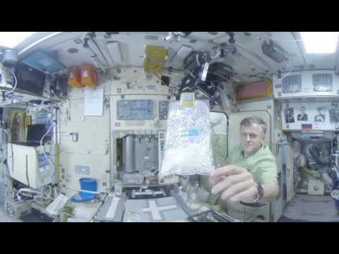 Space 360: Breakfast at the International space station