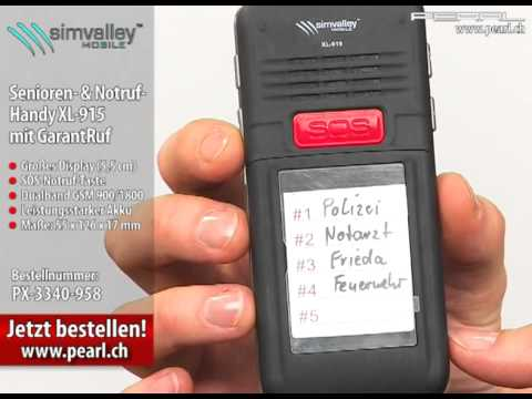 simvalley MOBILE Senioren- & Notruf-Handy XL-915 mit GarantRuf