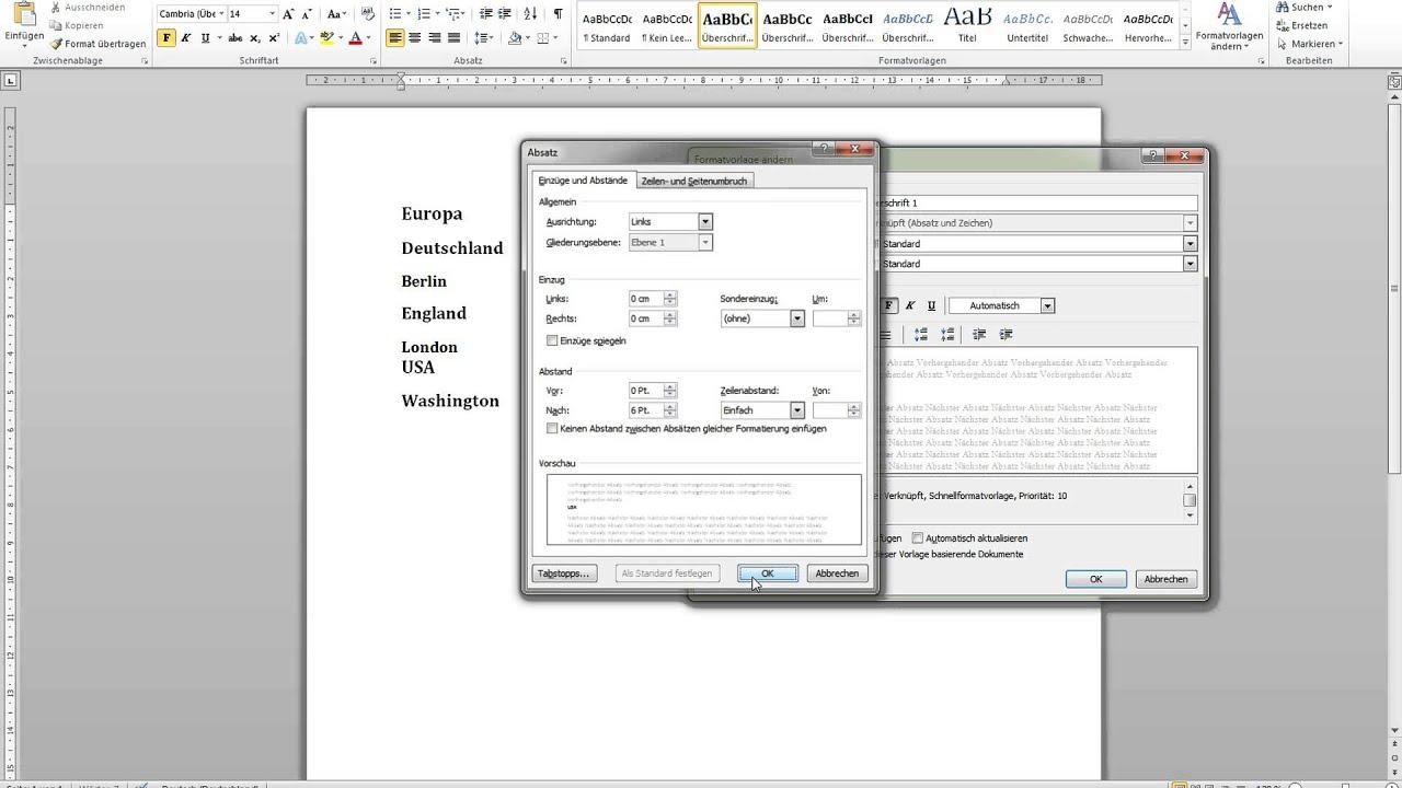 Automatisches Inhaltsverzeichnis in Word 2010 erstellen ...