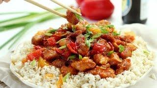 Курица в кисло-сладком соусе с Ананасами по-китайски
