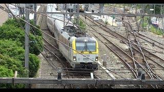 Intensive Train traffic on Welkenraedt Station Belgium (1)