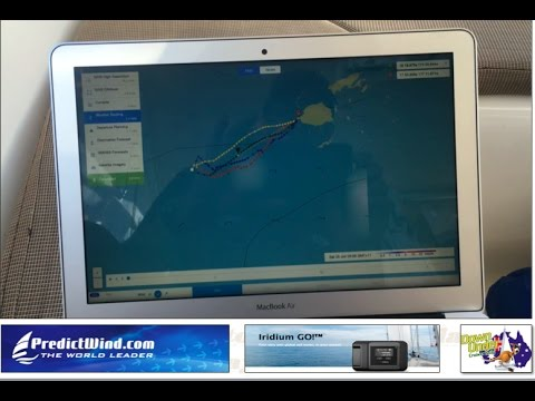 Realtime demo of PredictWind offshore app in use whilst offshore