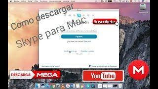 Como Descargar e Instalar Skype Para Mac full+2018 (Mega