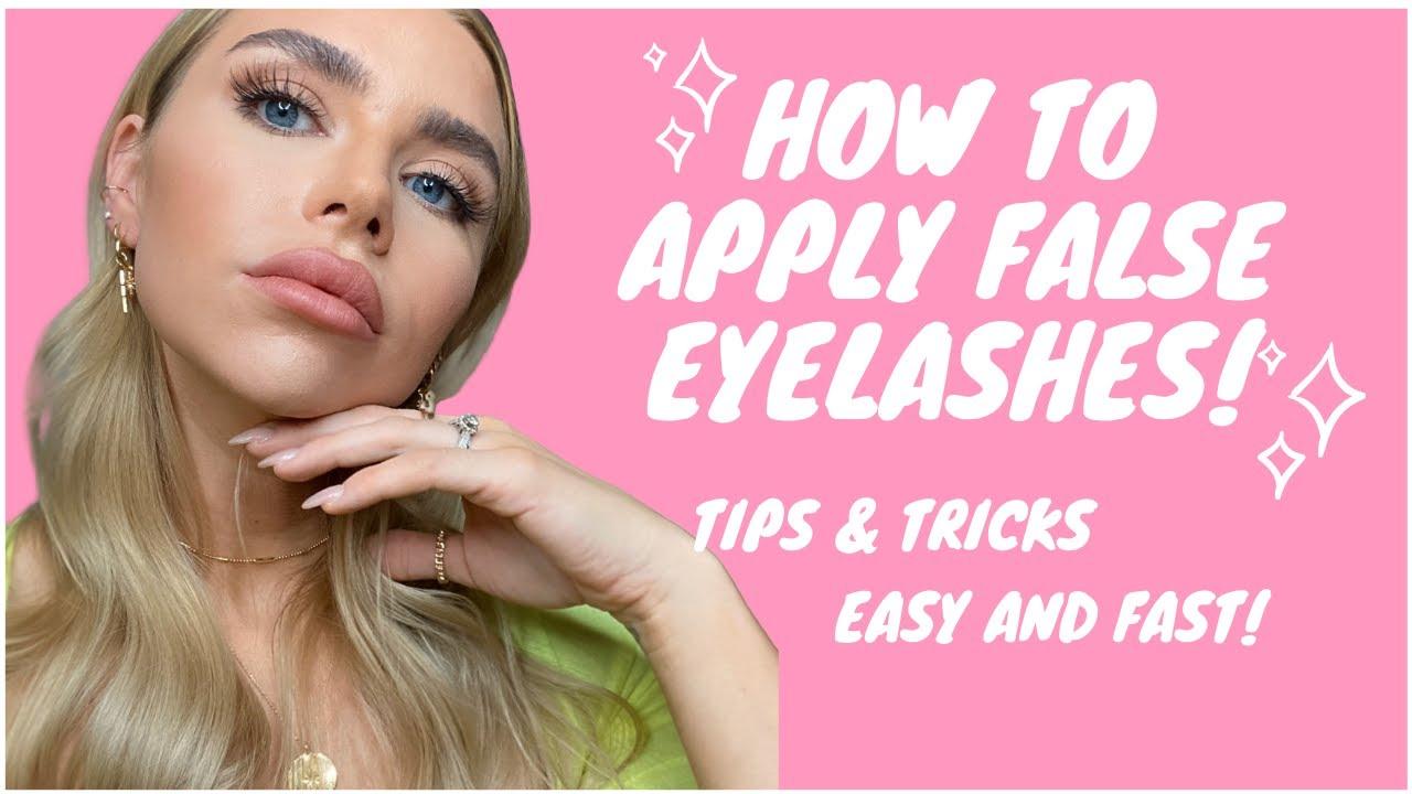 3 STEPS - HOW TO APPLY FALSE EYELASHES FOR BEGINNERS ...