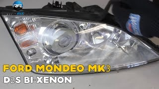 Ford Mondeo MK3 mount a D2S Bi-xenon projector (installation video)