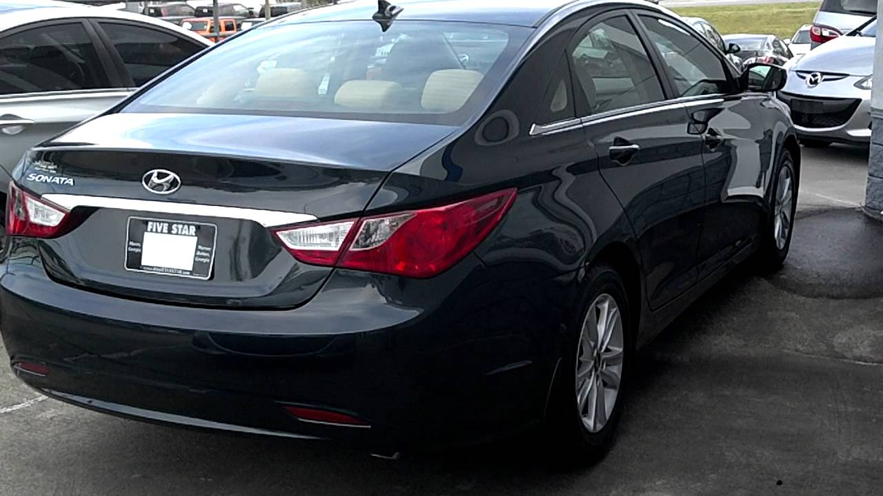 2012 Sonata GLS Preferred Package Pacific Blue With Tan Interior