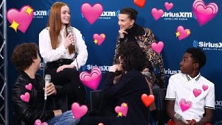 the cast of stranger things loving sadie sink for 7 minutes straight