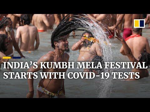 Hindu pilgrims need Covid-19 tests before bathing in holy river at Kumbh Mela festival