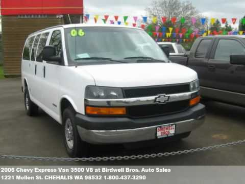 2006 Chevy Express Van 3500 V8 11900 At Birdwell Bros Aut
