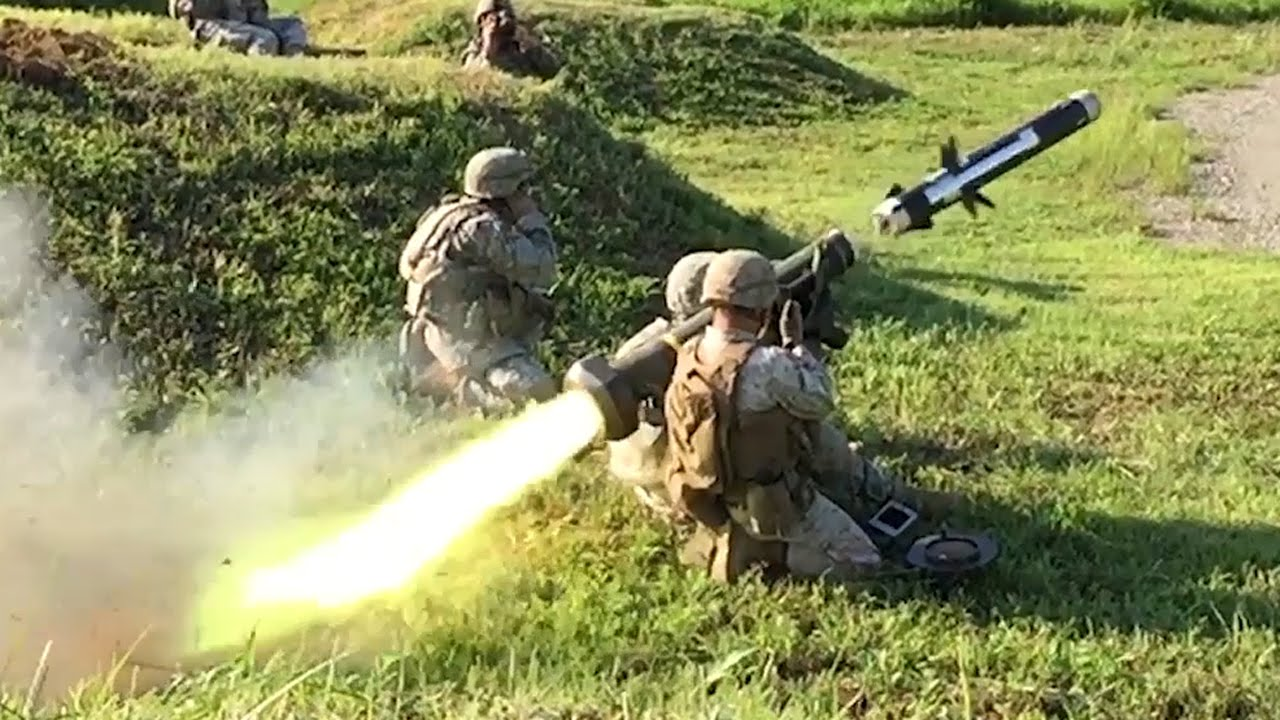 USA Military Channel 対戦車ミサイル「FGM-148ジャベリン」発射・スロー