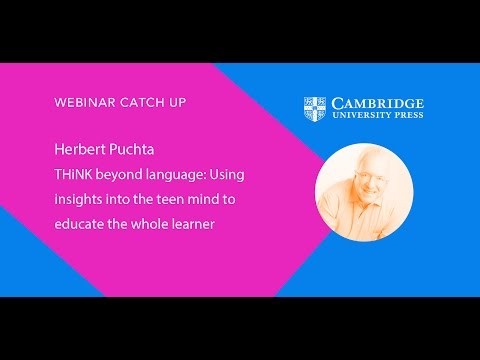 Herbert Puchta, THiNK beyond language webinar