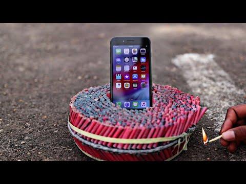 Apple I Phone Vs 2000 Firecrackers