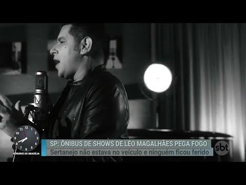 Ônibus de cantor sertanejo pega fogo | Primeiro Impacto (09/04/18)