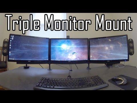 Triple Monitor Mount DIY