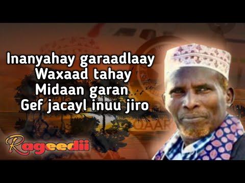 Download Cabdullahi Y. Hanuuniye - Inanyahay Garaadlaay Lyrics