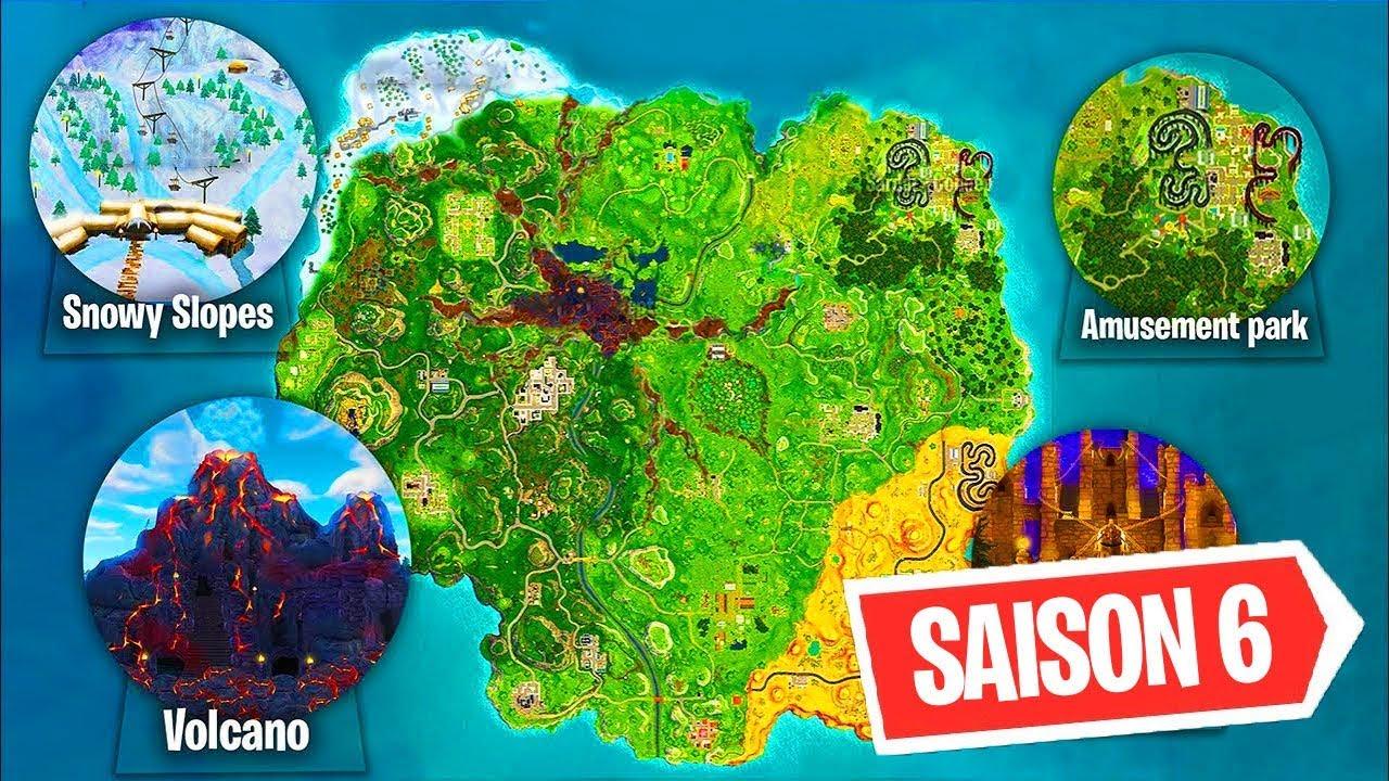 la nouvelle map de fortnite saison 6 va changer season 6 new map - la map fortnite saison 9