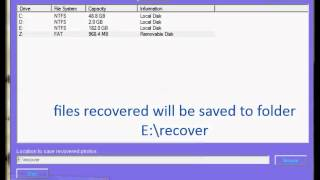 digital photo recovery software free download for windows computer memory card usb key drive