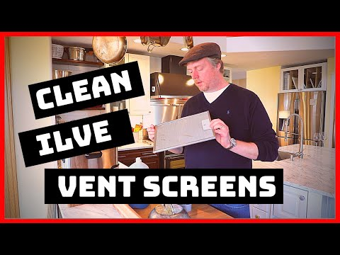 How to Clean Vent Screens on an Ilve Majestic Range Hood