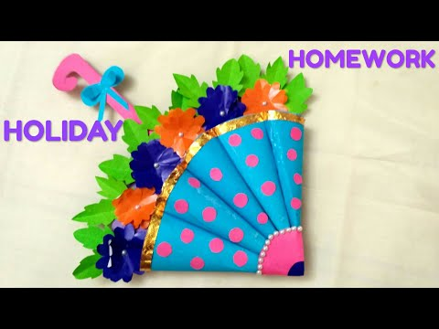 DIY,  folder decoration idea, summer project
