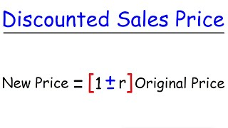 How To Calculate The Sales Price After Discount