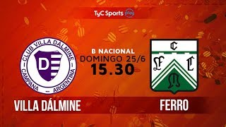 Primera B Nacional: Villa Dálmine vs. Ferro | #BNacionalenTyC thumbnail