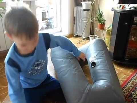 Надувное кресло в лодке ПВХ 300 нднд - YouTube