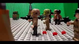 Star Wars Lego The Battle of Crait Stop Motion Mini Clip